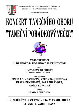 PONDĚLÍ 23. KVĚTNA 2016 V 17.00 HODIN