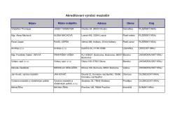Akreditovaní výrobci mezistěn