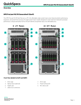 HPE ProLiant ML110 Generation9 (Gen9)
