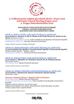 2. Velikononoční setkání pěveckých sborů v - What is OR-FEA?