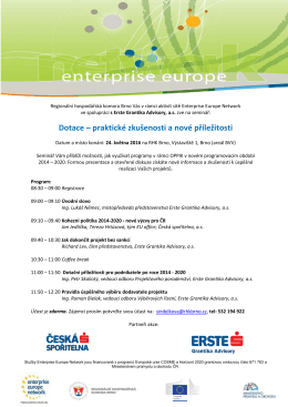 Enterprise Europe Network - Erste Grantika Advisory as