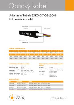 Optický kabel - Alfa Extranet