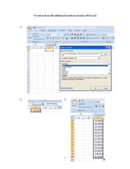 Vytvoření dvou tříd oddělených kruhovou hranicí (MS Excel)