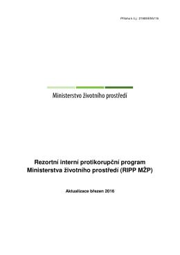 RIPP MŽP - Ministerstvo životního prostředí