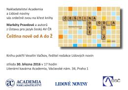 Čeština nově od A do Ž - Ústav pro jazyk český
