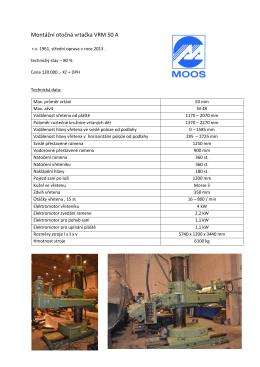 Montážní otočná vrtačka VRM 50 A