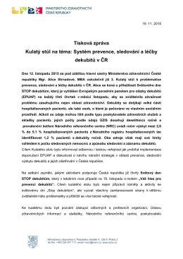 Systém prevence, sledování a léčby dekubitů v ČR