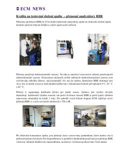 ECM NEWS Kvalita na testování složení spalin – přenosné