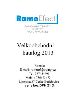 Velkoobchodní katalog 2013