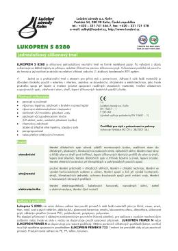 Technický list - S 8280 - Lučební závody a.s. Kolín