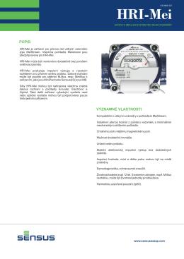 SENSUS datový a pulsní systém HRI