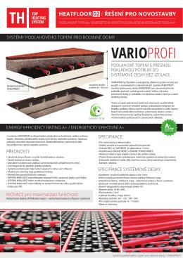Katalogový list VARIO PROFI ke stažení ZDE