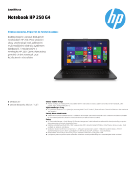 PSG EMEA Commercial Notebook 2014 Datasheet - HP