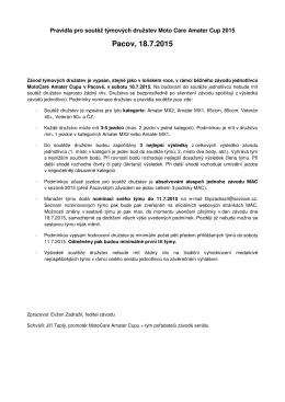 Pravidla družstva MAC 2015