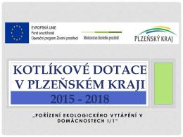 Kotlíkové dotace v Plzeňském kraji 2015