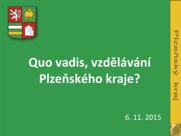 Aktuální informace ke školství v Plzeňském kraji