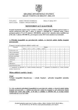 Monitorovací kalendář