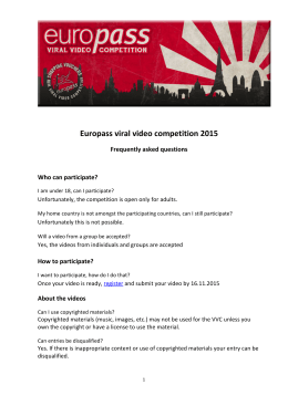 Europass viral video competition 2015