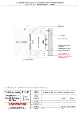 4.1.1.01 Vnější plášť - fasádní desky PREFA