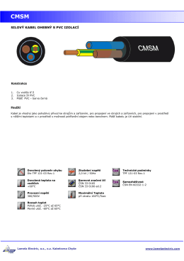 katalogový list produktu