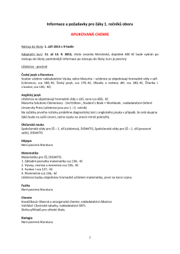 informace pro 1.rocniky_aplikovana chemie