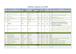 Veletrhy a výstavy pro rok 2015 - Českomoravská elektrotechnická