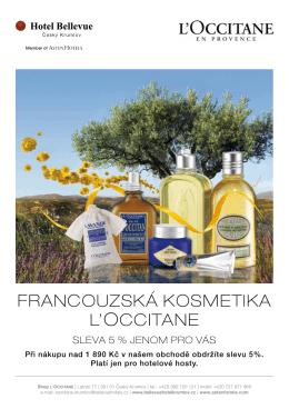 Francouzská kosmetika L`occitane