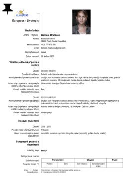 Europass CV - Barbora Mráčková