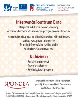 Intervenční centrum Brno Nabízíme: