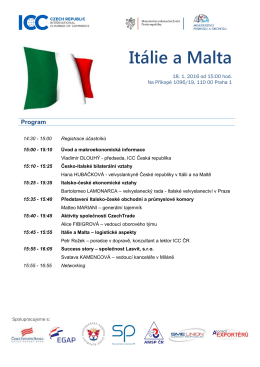 Itálie a Malta - ICC Česká republika