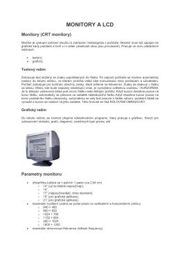 MONITORY A LCD