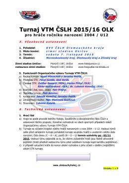 Turnaj VTM ČSLH 2015/16 OLK pro hráče ročníku narození 2004