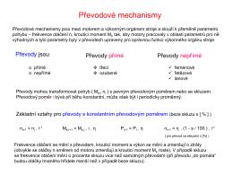 Převodové mechanismy