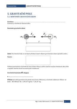 5. gravitační pole