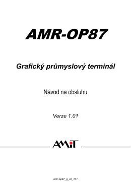 AMR-OP87 - návod na obsluhu
