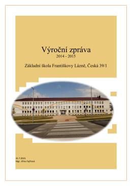 Výroční zpráva 2014-2015 - Základní škola Františkovy Lázně
