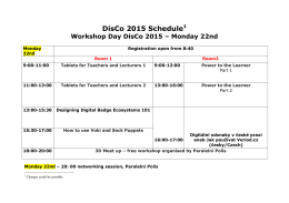 DisCo 2015 - 1st draft programme