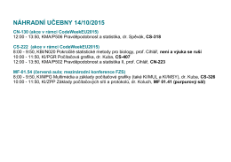 NÁHRADNÍ UČEBNY 14/10/2015 CN