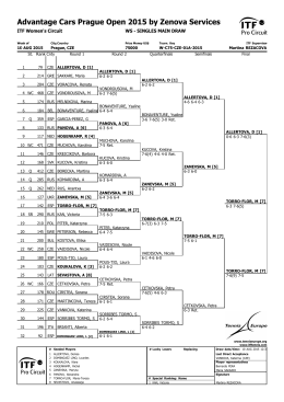 singles main draw