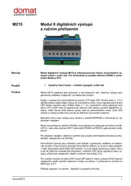 M215 Modul 8 digitálních výstupů s ručním přeřízením