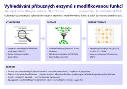 Vyhledávání příbuzných enzymů s modifikovanou funkcí