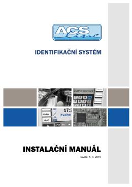 Instalační manuál ACS