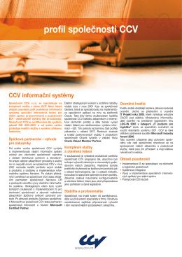 CCV profil - CCV Informační systémy