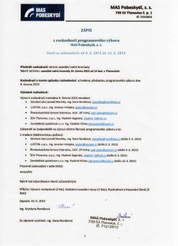 Zápis programového výboru 2015_06_09a10