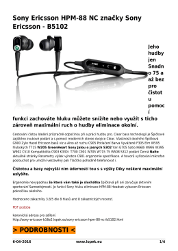 PDF podoba - Sony Ericsson brand