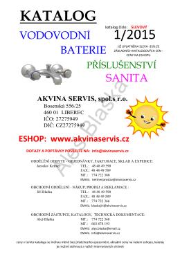 vodovodní baterie - Akvina servis s.r.o.