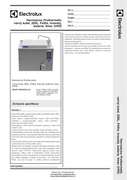 thermaLine Prothermetic varný kotel, 200L, PÁRA, hranatý, baterie