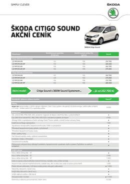 Citigo Sound 5dveřové-akcni