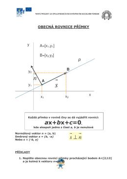 (obecná rovnice přímky)