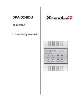 DPA-D2-BDU zesilovač Uživatelský manuál